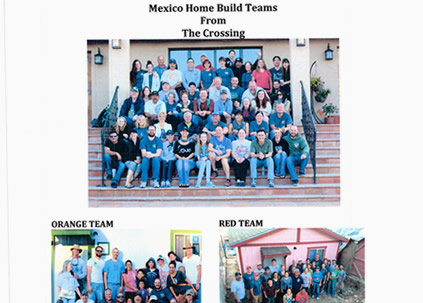 Donated tools for building homes in Mexico